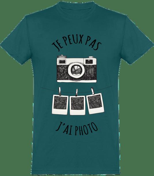 """T-Shirt """"Je peux pas, j'ai photo"""" dispo pour Homme, Femme et Enfant en plusieurs coloris au choix"""